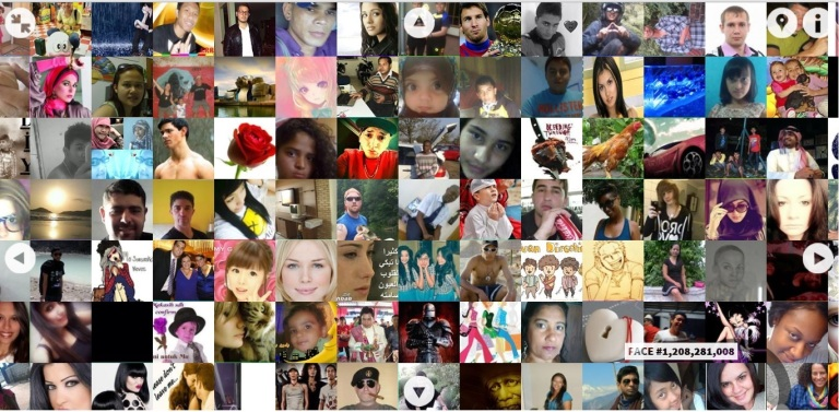 Faces of the facebook